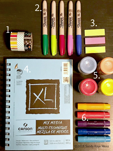 Easy Fun Art Supplies for you to try! www.sandykayemoss.com