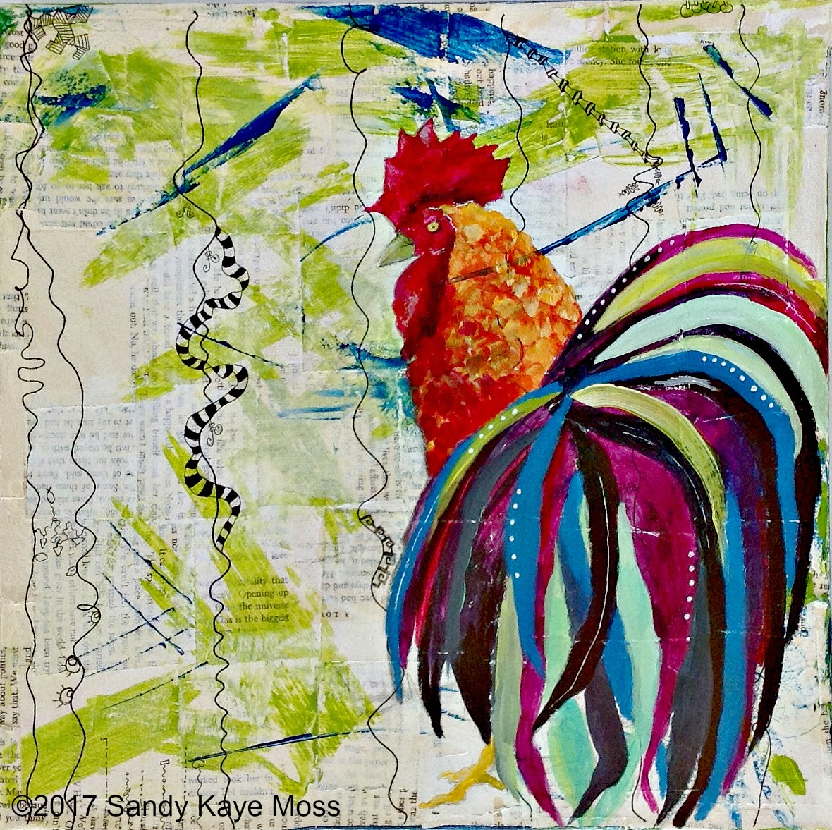 Peters' Rooster. A painting. A story. A devotional. Create your own piece of art as you paint along with me. Discover the story of devotion, fear betrayal and forgiveness that was the disciple, Peter's, life. This event is perfect for your small group, retreat, Women's Ministry or friends in a Bible Study group looking for something new. www.sandykayemoss.com