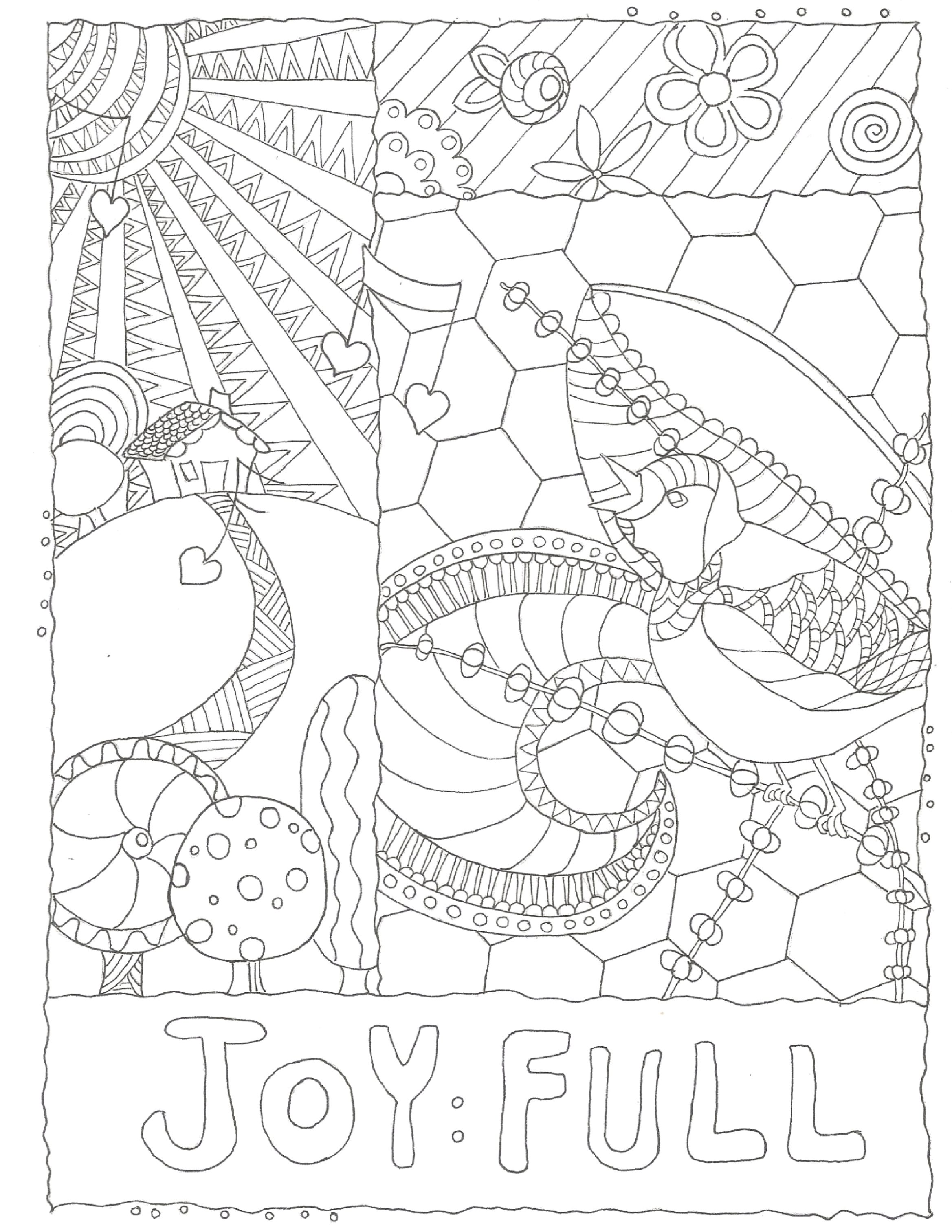 Making life Joy:Full! Start with a free coloring page! www.sandykayemoss.com