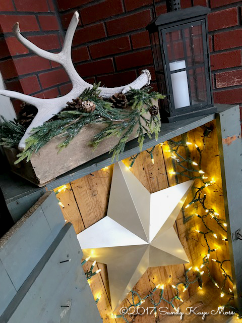 Antique tool box serves as a keeper for the Christmas star