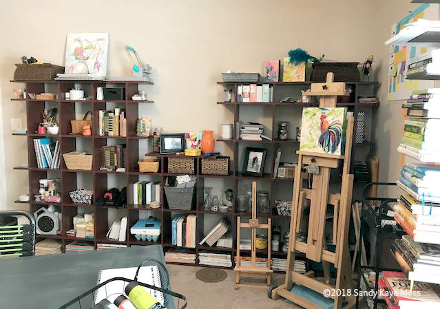 This is totally a wall of crazy in the art studio. It hold a ton of random important stuff!