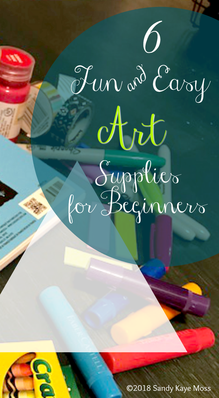 You won't believe all the cool art you can create with these 6 Fun and easy art supplies. www.sandykayemoss.com
