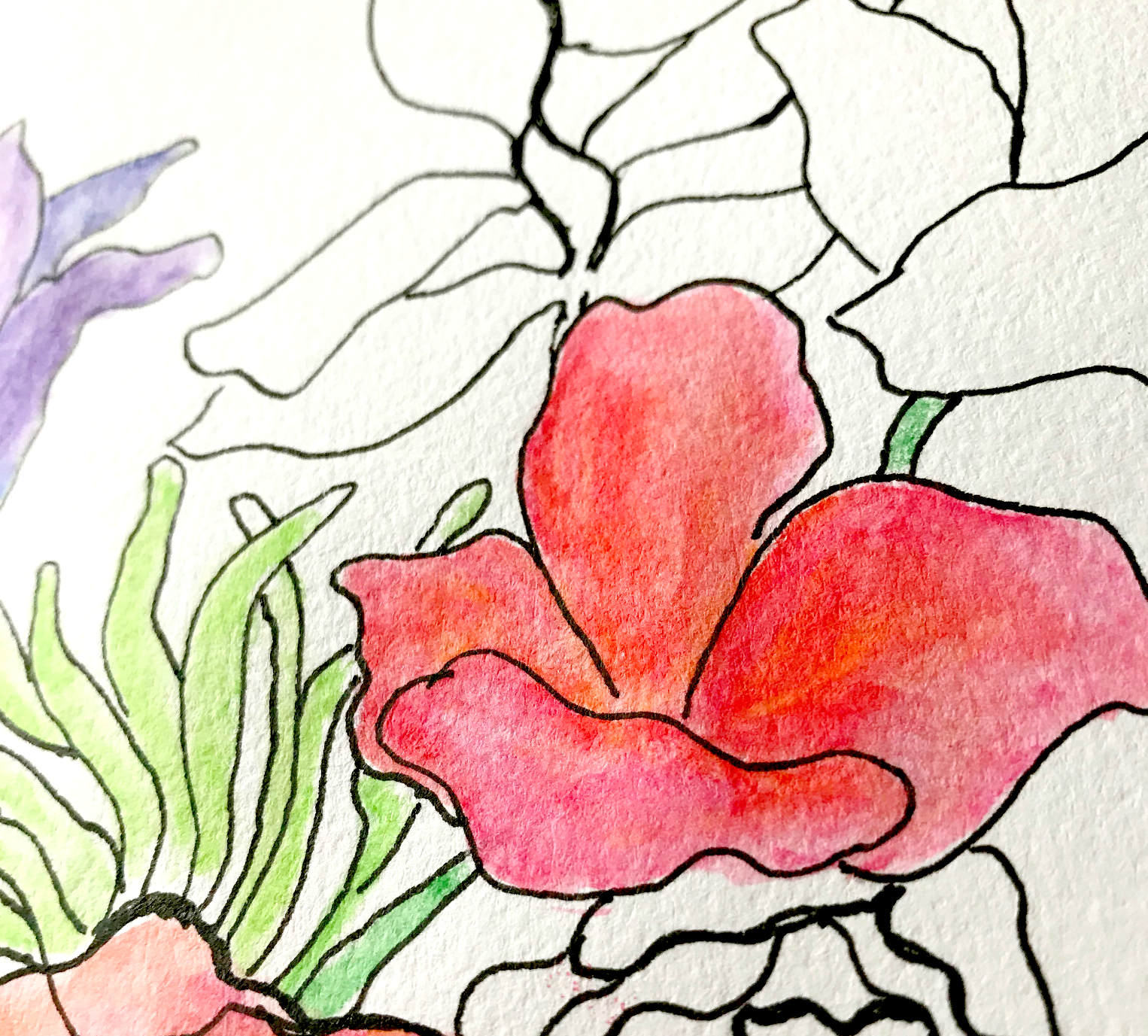 A fun bouquet to color on Mother's Day www.sandykayemoss.com