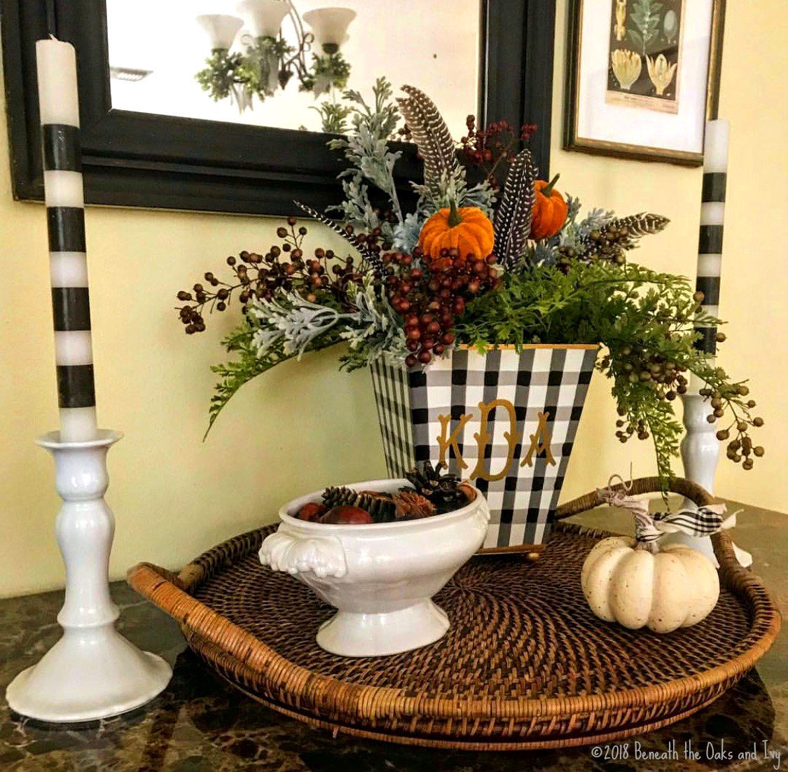 Black and White Tapers | White pottery | Black and White Vase with Flowers | Instagram Inpiration That Stopped My Scroll | www.sandykayemoss.com